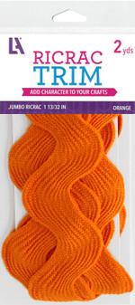 """EBL Ric Rac Jumbo 1 13/32"""" 2yd Orange"""