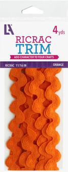 "EBL Ric Rac 11/16"" 4yd Orange"