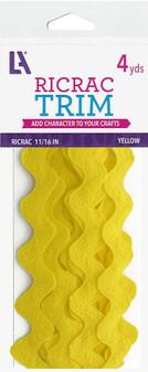 "EBL Ric Rac 11/16"" 4yd Yellow"