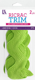 "EBL Ric Rac Jumbo 1 13/32"" 2yd Apple"
