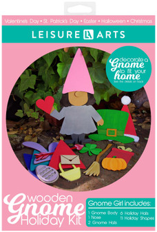 Leisure Arts Wood Gnome Kit Holiday Girl