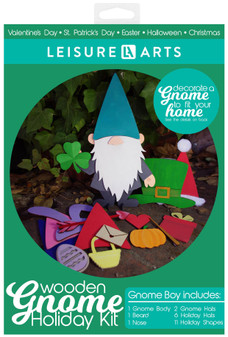 Leisure Arts Wood Gnome Kit Holiday Boy