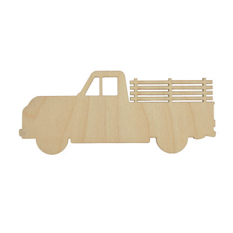 Essentials By Leisure Arts Wood Shape Flat Truck 24pc