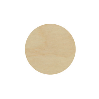 Essentials By Leisure Arts Wood Flat Shape Circle 24pc