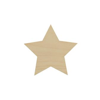 Essentials By Leisure Arts Wood Flat Shape Star 24pc