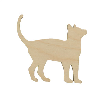 Essentials By Leisure Arts Wood Flat Shape Cat 24pc