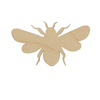 Essentials By Leisure Arts Wood Flat Shape Bee 24pc