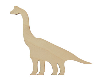 Essentials By Leisure Arts Wood Shape Flat Brachiosaur 24pc