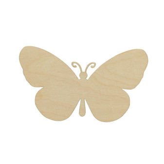 Essentials By Leisure Arts Wood Flat Shape Butterfly 24pc