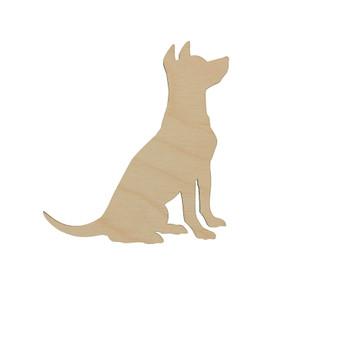 Essentials By Leisure Arts Wood Flat Shape Dog 24pc
