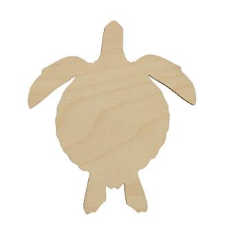 Essentials By Leisure Arts Wood Shape Flat Sea Turtle 24pc