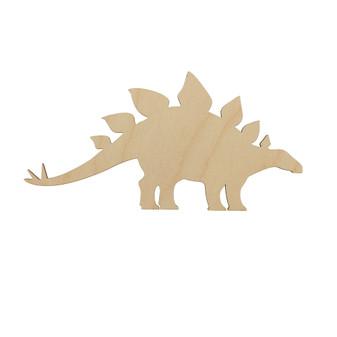 Essentials By Leisure Arts Wood Flat Shape Stegosaurus 24pc