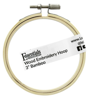 """Essentials By Leisure Arts Wood Embroidery Hoop 3"""" Bamboo"""