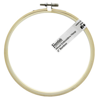 """Essentials By Leisure Arts Wood Embroidery Hoop 6"""" Bamboo"""
