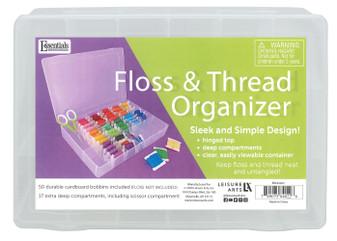 Essentials By Leisure Arts Floss Organizer 17 Compartments 50 Bobbins