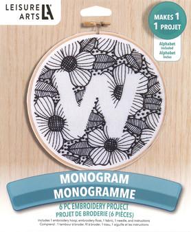 """Leisure Arts Kit Mini Maker Embr 6"""" Monogram"""