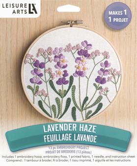 "Leisure Arts Embroidery Kit 6"" Lavender Haze"