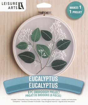 """Leisure Arts Kit Mini Maker Embr 6"""" Eucalyptus"""