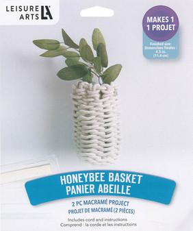 Leisure Arts Kit Macrame Honey Bee Basket