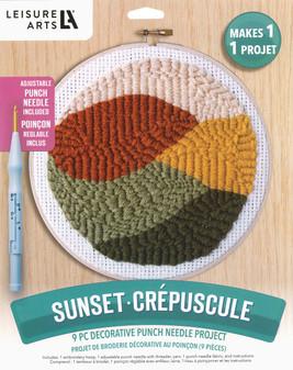 Leisure Arts Kit Punch Needle Sunset