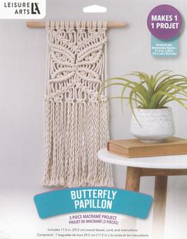 Leisure Arts Kit Macrame Butterfly