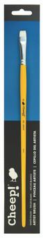Cheep Brush White Nylon Long Handle Bright #6