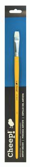 Cheep Brush White Nylon Long Handle Bright #8