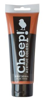 Cheep! Acrylic Paint 4oz Tube Burnt Sienna