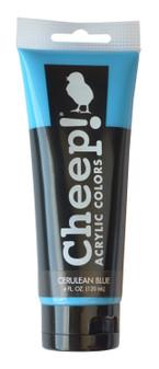 Cheep! Acrylic Paint 4oz Tube Cerulean Blue