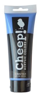 Cheep! Acrylic Paint 4oz Tube Cobalt Blue
