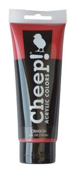 Cheep! Acrylic Paint 4oz Tube Crimson
