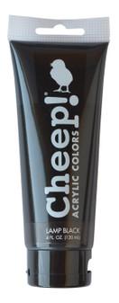 Cheep! Acrylic Paint 4oz Tube Lamp Black