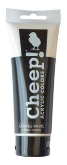 Cheep! Acrylic Paint 4oz Tube Mixing White
