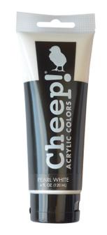 Cheep! Acrylic Paint 4oz Tube Pearl White