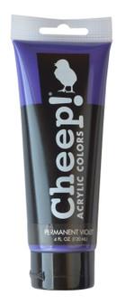 Cheep! Acrylic Paint 4oz Tube Permanent Violet