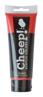 Cheep! Acrylic Paint 4oz Tube Scarlet