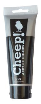 Cheep! Acrylic Paint 4oz Tube Silver