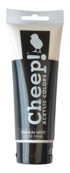 Cheep! Acrylic Paint 4oz Tube Titanium White