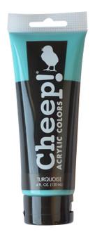 Cheep! Acrylic Paint 4oz Tube Turquoise