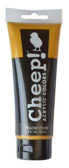 Cheep! Acrylic Paint 4oz Tube Yellow Ochre