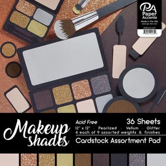 "Paper Accents Cardstock Pad 12""x 12"" Makeup Shades Assortment 36pc"