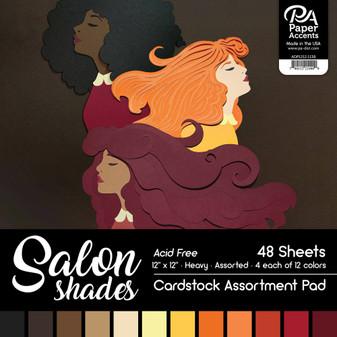 "Paper Accents Cardstock Pad 12""x 12"" Salon Shades Assortment 48pc"