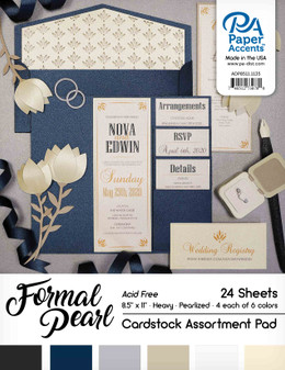 """Paper Accents Cardstock Pad 8.5""""x 11"""" Formal Pearl Assortment 24pc"""