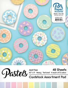 "Paper Accents Cardstock Pad 8.5""x 11"" Pastels Assortment 48pc"