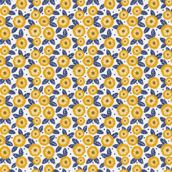 Emma & Mila Marigold Flowers 8 yard Cotton fabric by the bolt