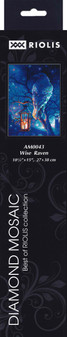 "Riolis Diamond Mosaic Kit 10.75""x 15"" Wise Raven"
