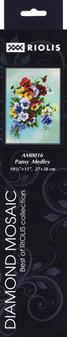 "Riolis Diamond Mosaic Kit 10.75""x 15"" Pansy Medley"