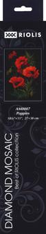 "Riolis Diamond Mosaic Kit 10.75""x 15"" Poppies"