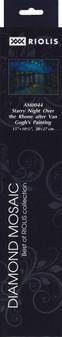 "Riolis Diamond Mosaic Kit 15""x 10.75"" Starry Night Over Rhone"