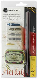Manuscript Dip Pen Calligraphy Pen Copperplate & Shadow Nibs